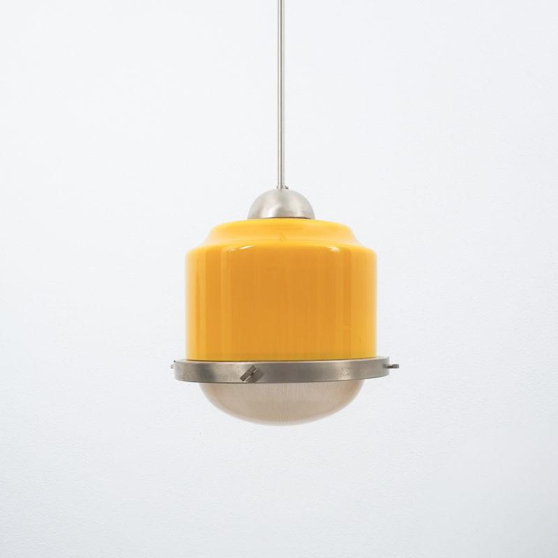 Stilnovo Yellow White Glass Pendant 02