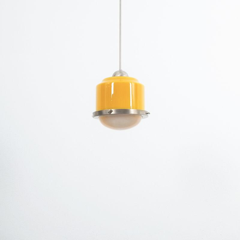 Stilnovo Yellow White Glass Pendant 04