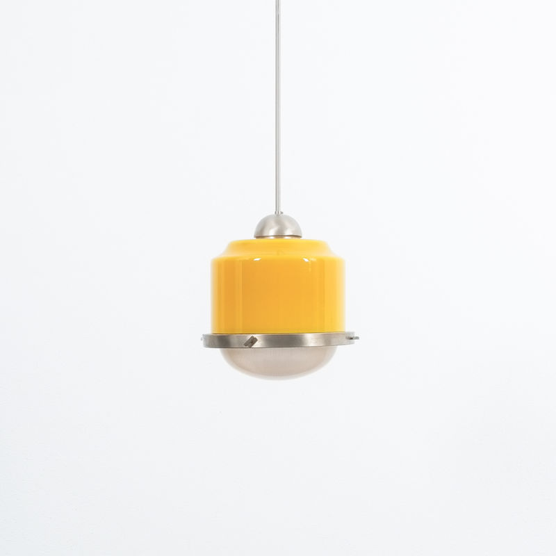 Stilnovo Yellow White Glass Pendant 07