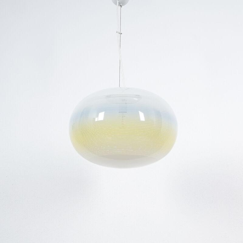 Striped Ball Pendant White Blue Stilnovo 02