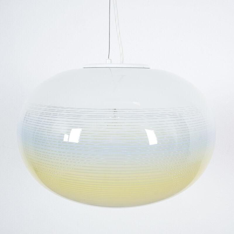 Striped Ball Pendant White Blue Stilnovo 03