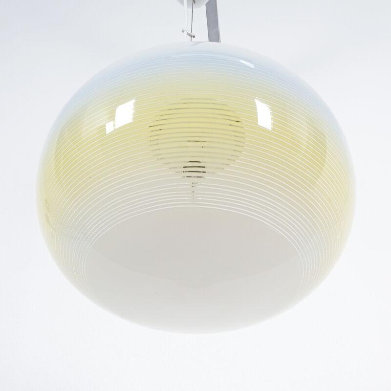 Striped Ball Pendant White Blue Stilnovo 04