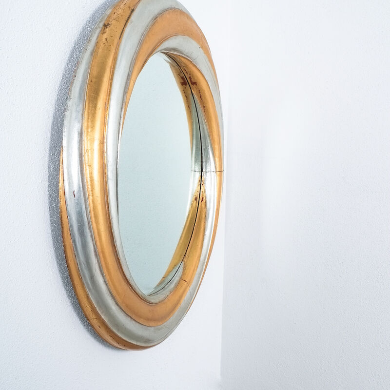 Swirl Wood Silver Gold Mirror 04