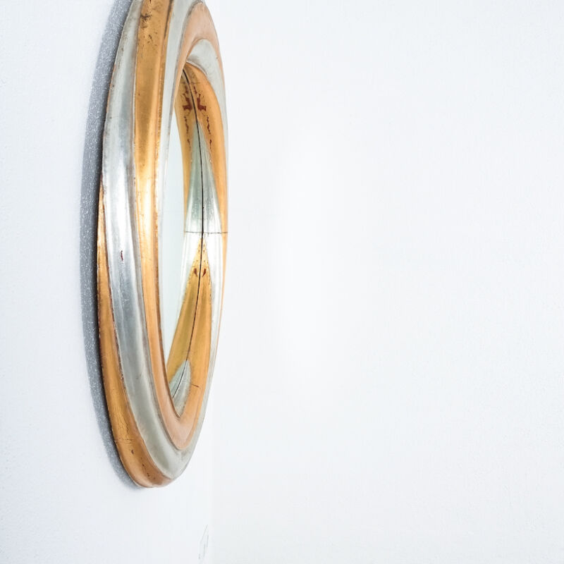 Swirl Wood Silver Gold Mirror 05