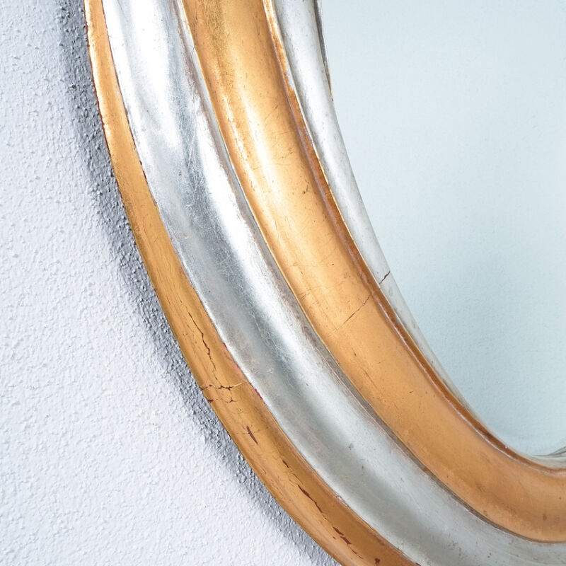 Swirl Wood Silver Gold Mirror 06
