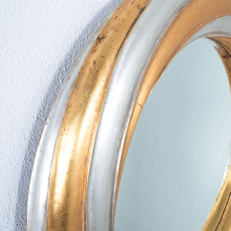 Swirl Wood Silver Gold Mirror 07