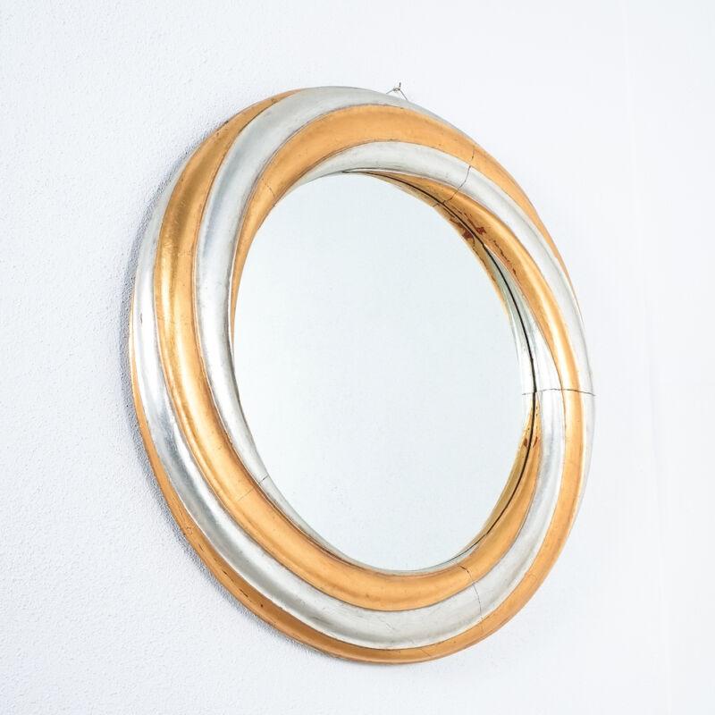 Swirl Wood Silver Gold Mirror 08