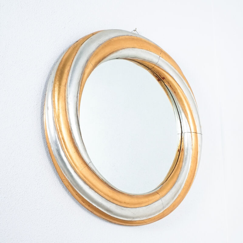 Swirl Wood Silver Gold Mirror 08