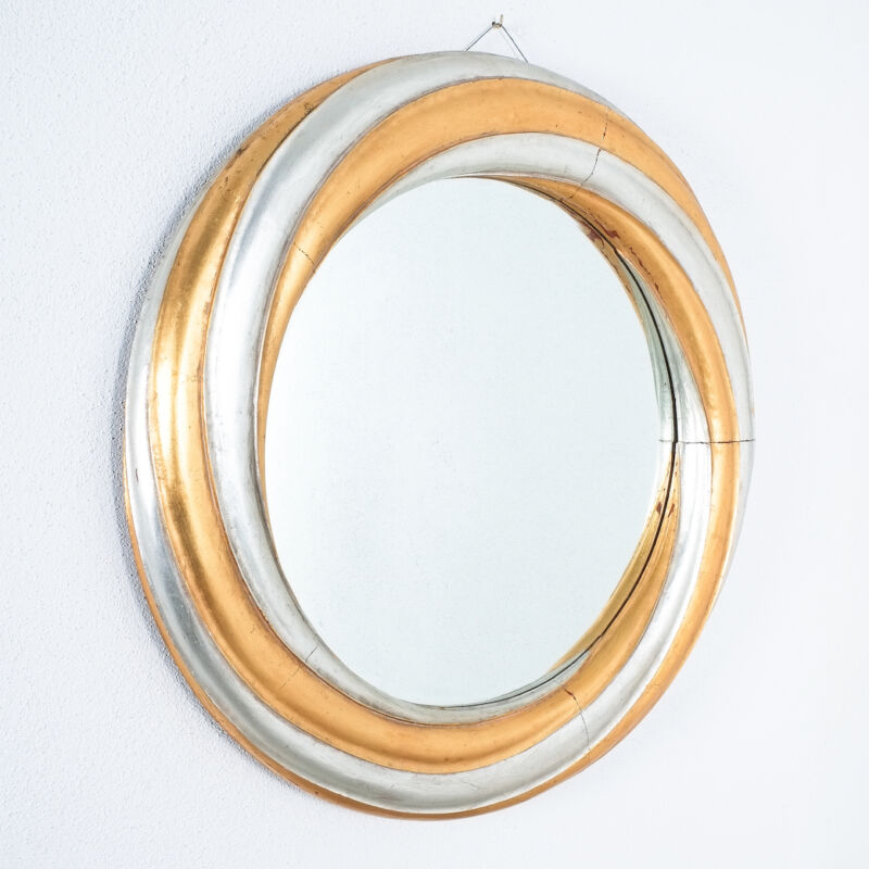 Swirl Wood Silver Gold Mirror 10