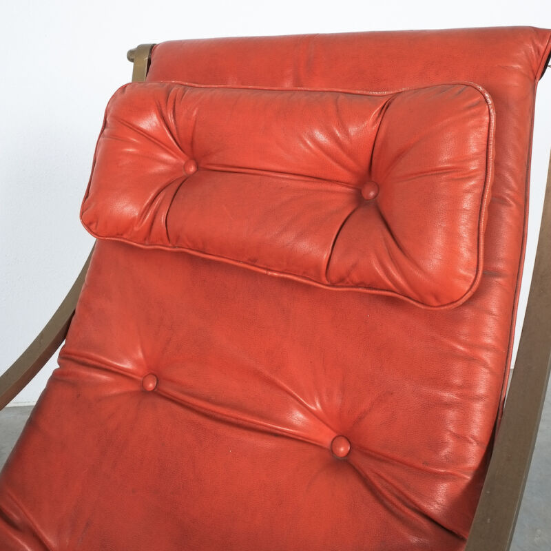 Winfield Style Leather Rocking Chair 04