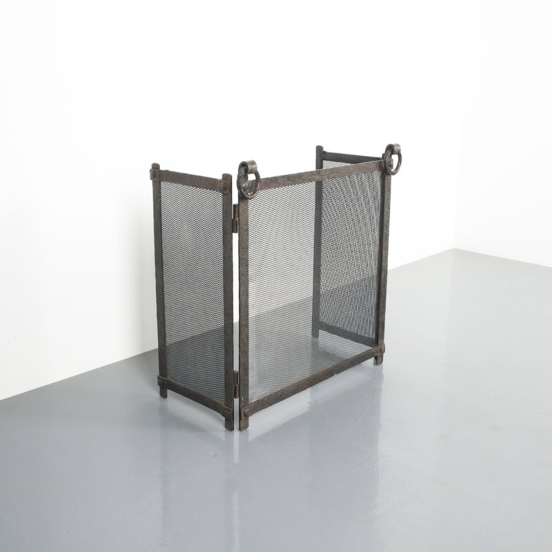 Wrought Iron Forged Fire Screen 01