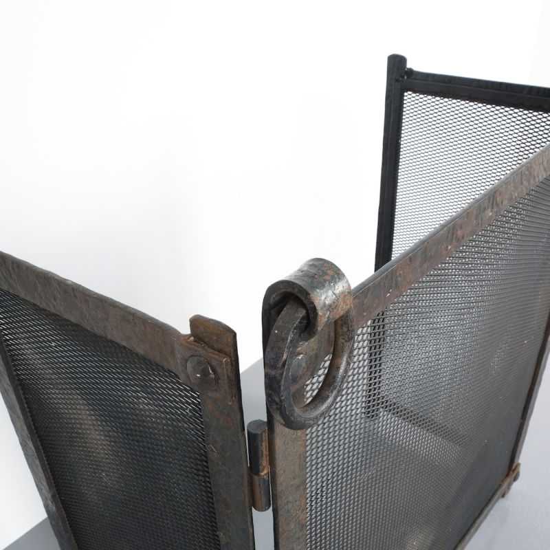 Wrought Iron Forged Fire Screen 02