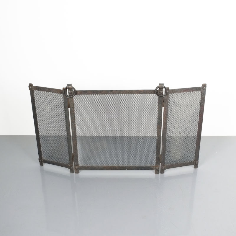 Wrought Iron Forged Fire Screen 03