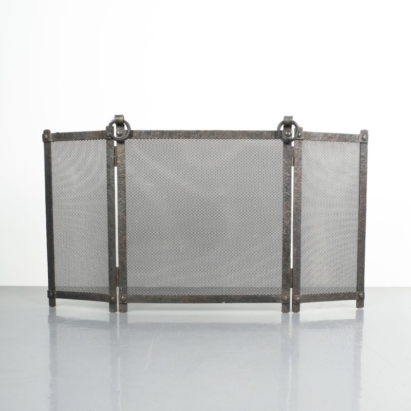 Wrought Iron Forged Fire Screen 04