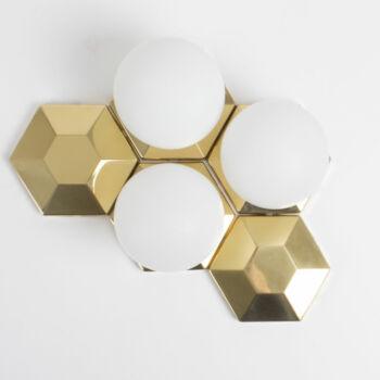 Modular Hexagonal Brass Lamp System11 Rare Object.com
