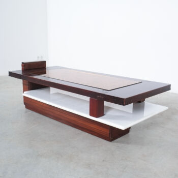 Rosewood Marble Coffee Table Brazil 11